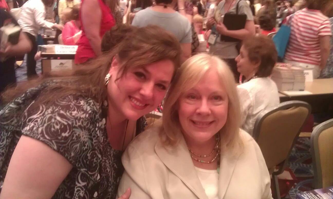 Cici and another fan girl moment with Karen Robards.