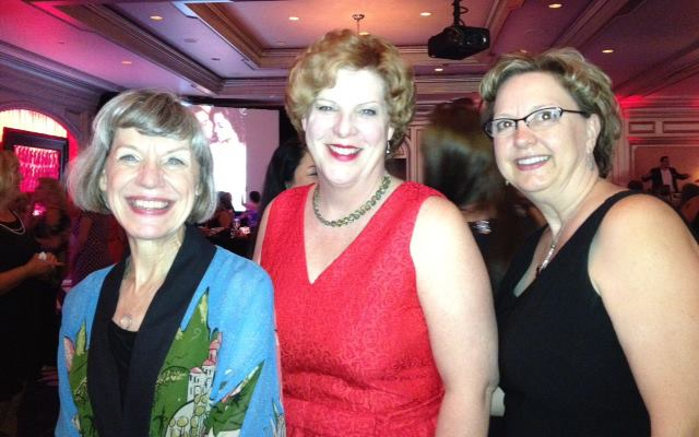 WC's Blythe Gifford with Janice Maynard and Beverly Long at the Harlequin Party.