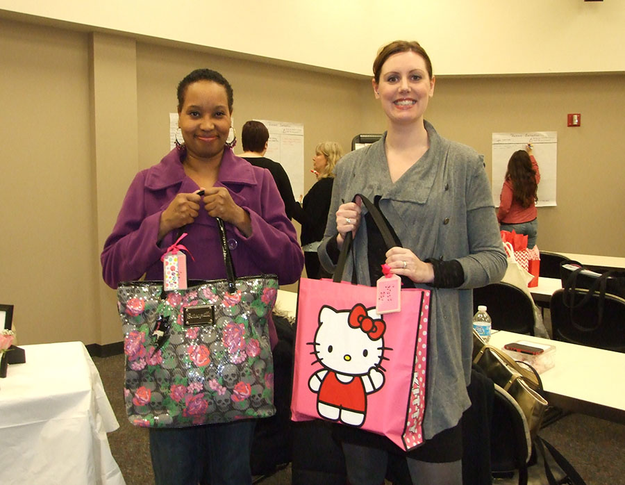 Paula White and Stephanie Scott win cute bag tag prize!