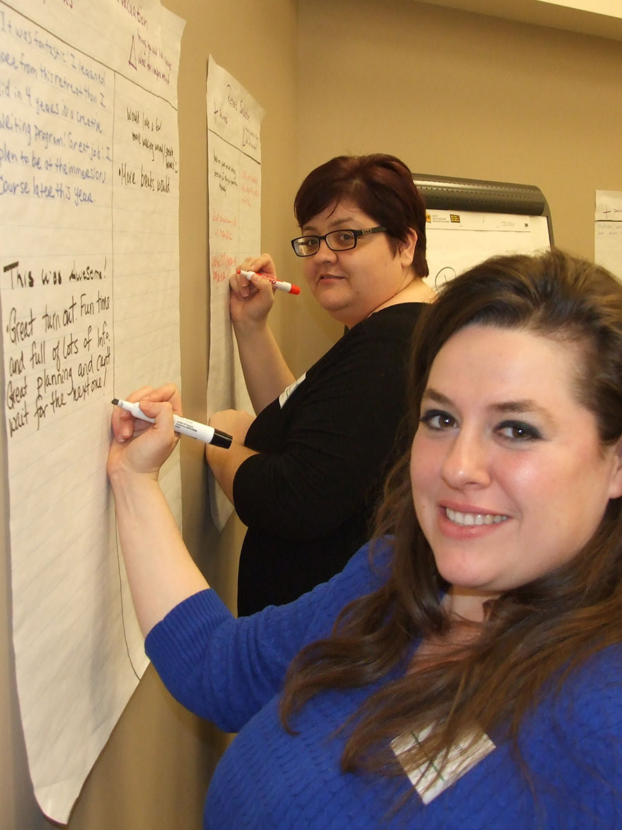 Jen and Cici provide feedback
