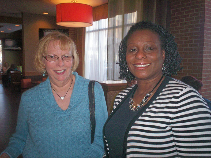 Our Food Fairy, Sherry Weddle and Retreat Coordinator, Kathy Thigpen
