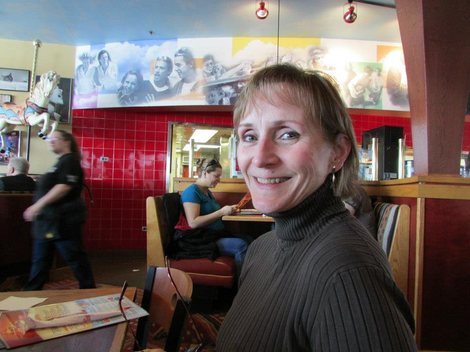 Barb Valentin, another Windy Cityer, joins the early pre-treat lunch